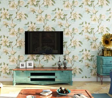 自从换上这样的电视背景墙,客人见了都赞不绝口图片