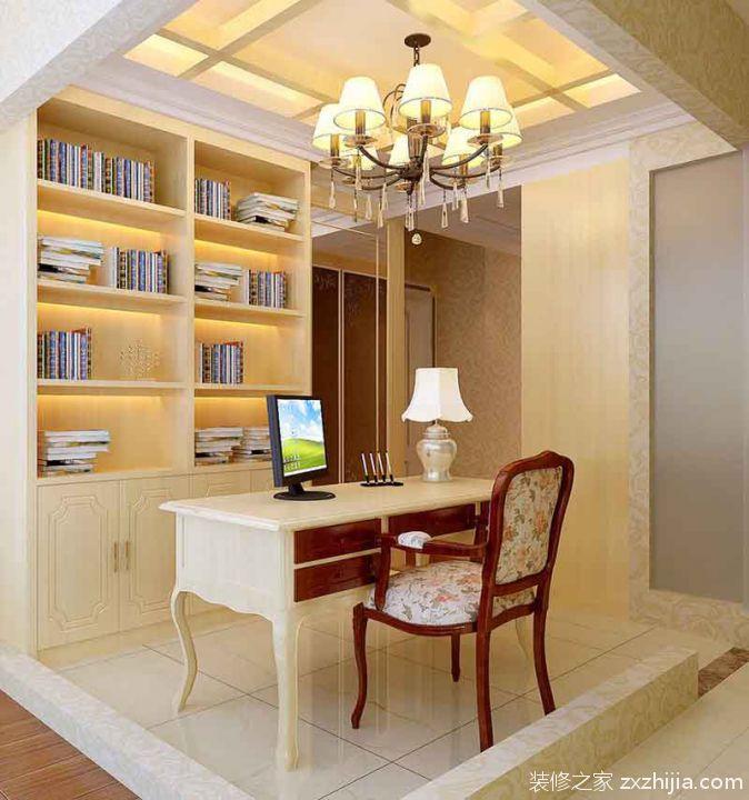 中式古朴书房装潢布置_装修之家装修效果图图片