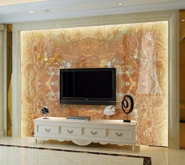 21款简欧风格的5d大理石纹客厅电视背景墙,高档大气图片