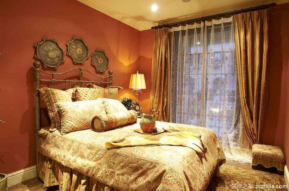 民族风情美式卧室装潢设计_装修之家装修效果图图片