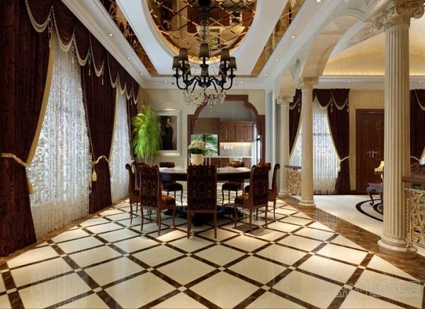 欧式装饰客厅 不可或缺的罗马柱图片