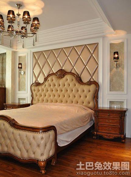 2014卧室床头软包背景墙效果图 高清图片