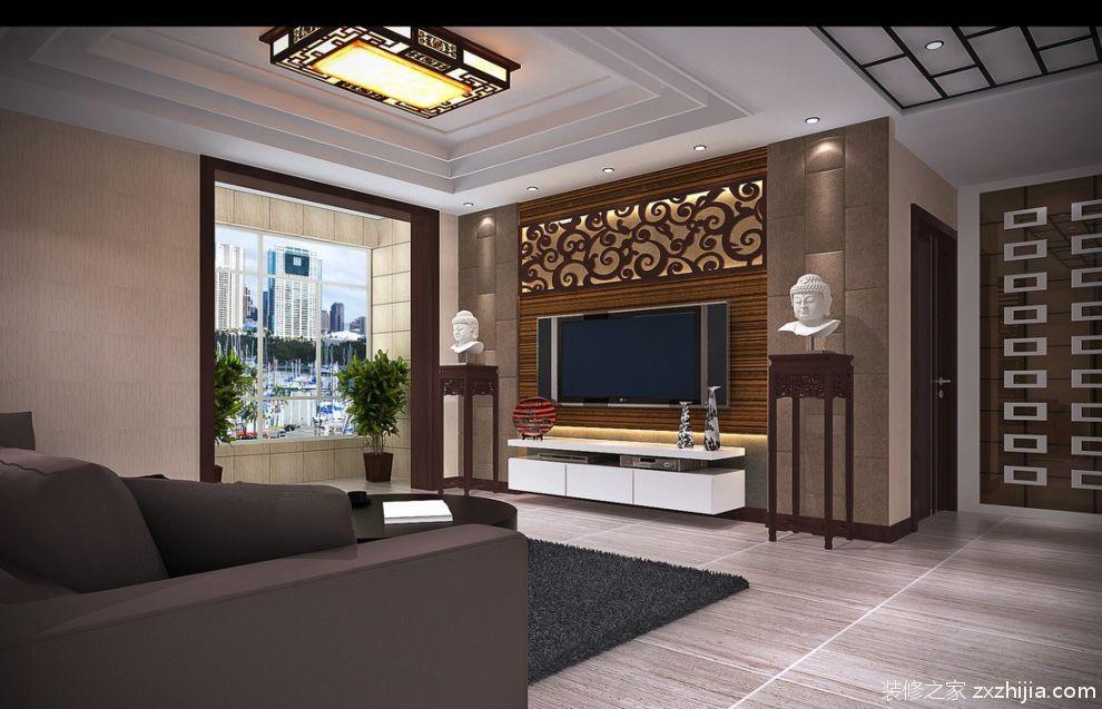 欧式风格客厅大理石电视背景墙效果图_装修之家装修效果图图片