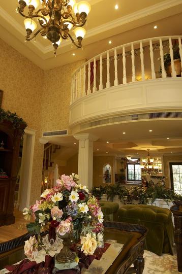 大户型513平方米三室二厅美式风格房屋卫生间浴缸浴室柜灯具装修效果图片