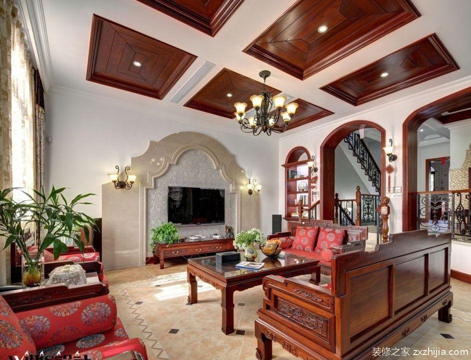 欧式电视背景墙1-10_装修之家装修效果图图片