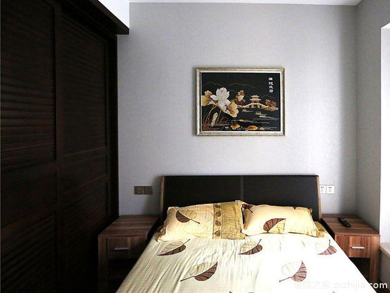 中式风格素雅米色卧室装修赏析2016_装修之家装修效果图图片
