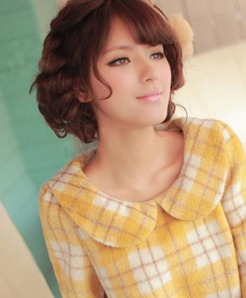最新女生短发烫发发型图片 时尚短卷发甜美过寒冬图片图片