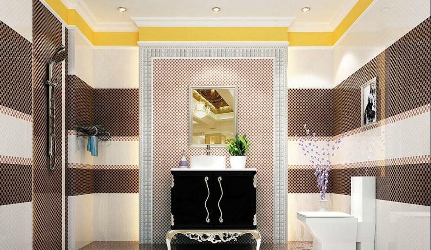 2013最新卫生间瓷砖装修效果图片 高清图片