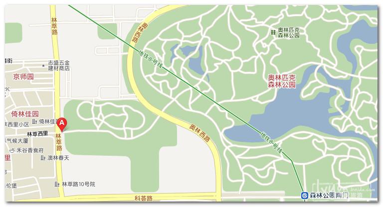 """建议坐到8号线的""""森林公园南门""""那图片"""