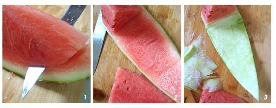 西瓜的切法图片