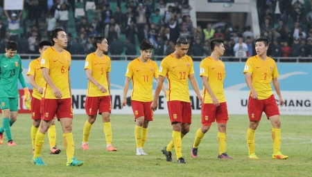 中国0:2不敌乌兹别克斯坦