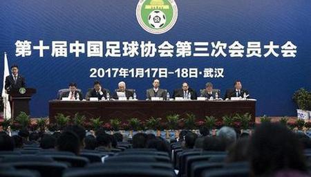 中国足球协会第三次会员大会召开