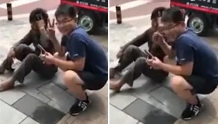 网曝北京小伙棒打残障人士