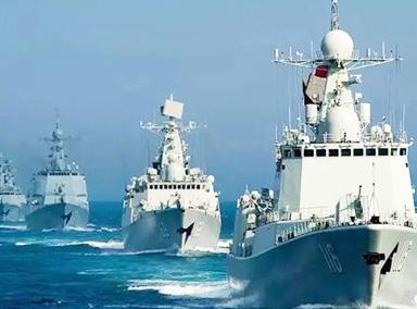 中国海军喜迎69岁生日