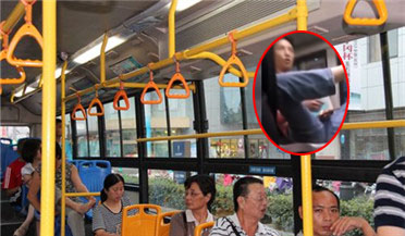 """男子称有艾滋 挑衅乘客""""有本事整死我"""""""