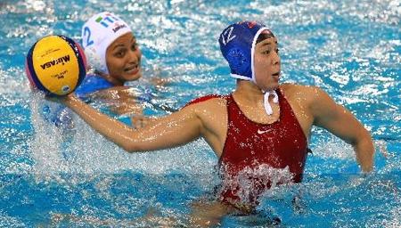 女子水球中国13-5法国 进攻端突出将战荷兰
