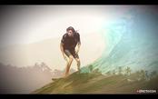 空中翻腾的冲浪高手马特·梅奥拉