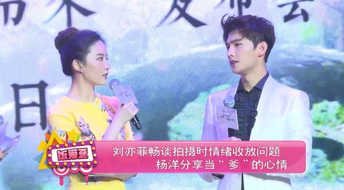 """刘亦菲畅谈拍摄时情绪收放问题 杨洋分享当""""爹""""的心情"""