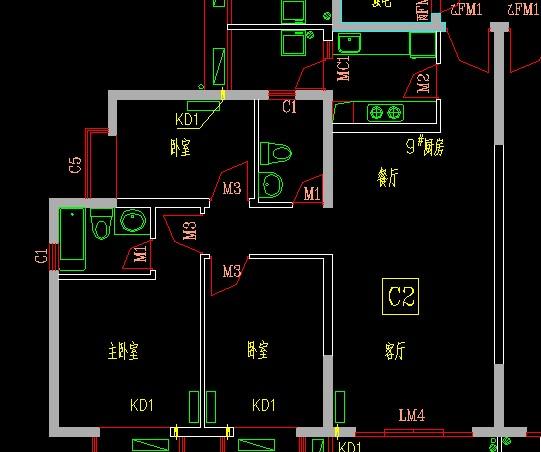 求长12米,宽10米,首层一厅三房一厨一卫一梯间房屋平面设计图图片