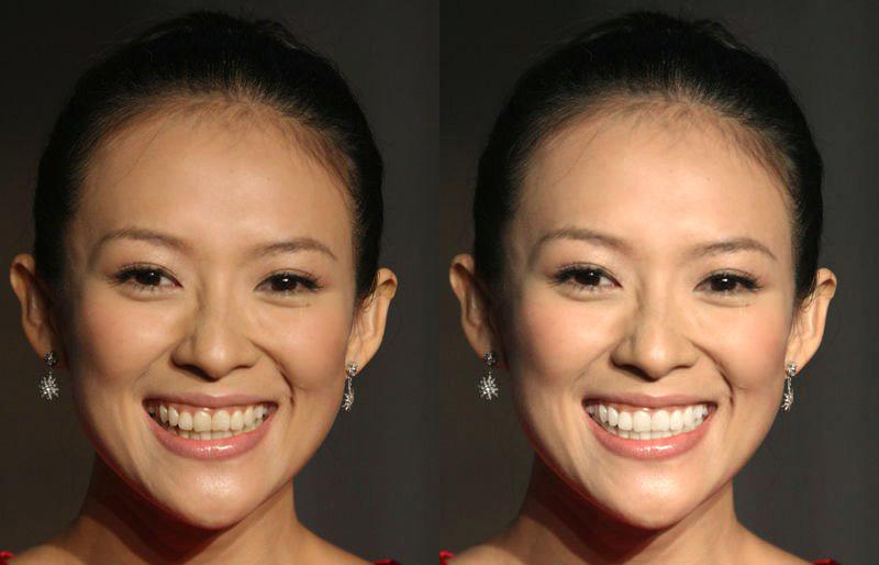 白白色潮吹影院_在ps图片时,人物的牙齿泛黄,尤其牙缝部分,怎么修出来牙齿白还不显修