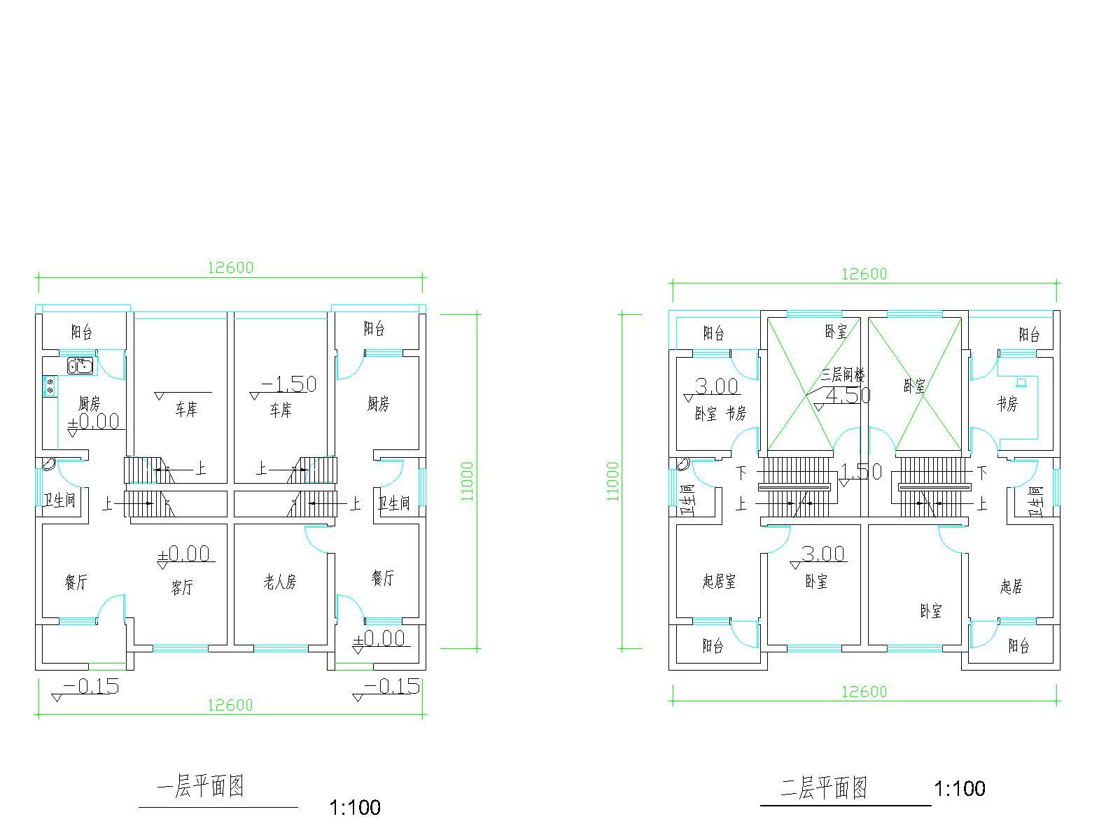 求农村2层半房屋设计图 (1600x1200)-100平米房屋设计图 100平