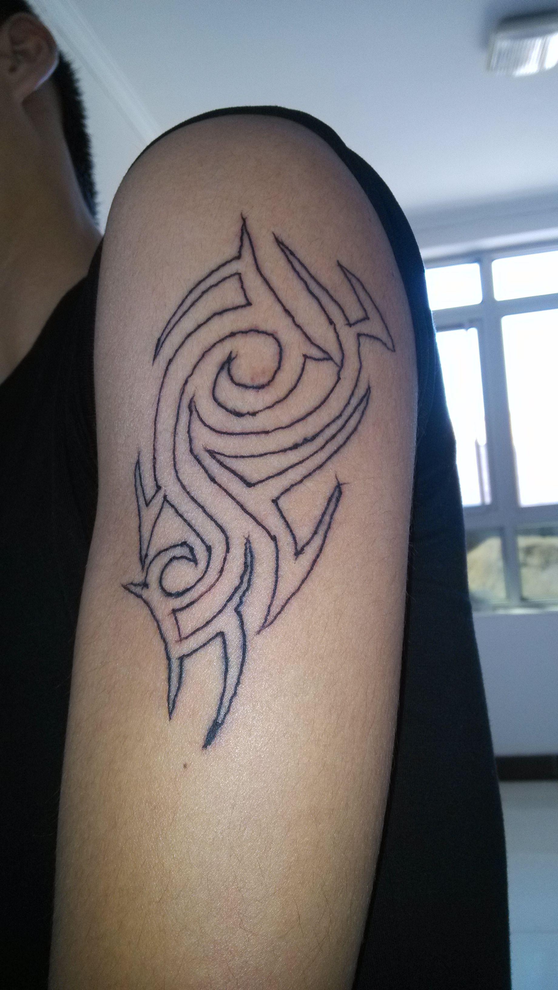 这个纹身能覆盖吗?我是北京和廊坊交接的地方的人,钱图片
