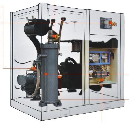 英格索兰螺杆式空压机关上所有的排气阀为什么压力.图片