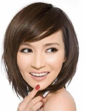 适合四十岁女圆脸的短发型图片图片