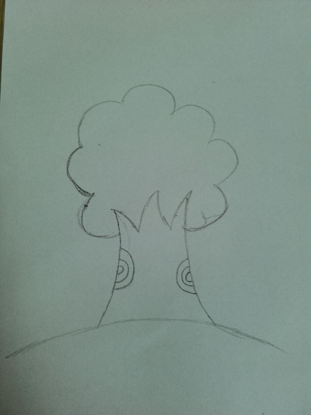精 【天才小画家】手指印画大树图片