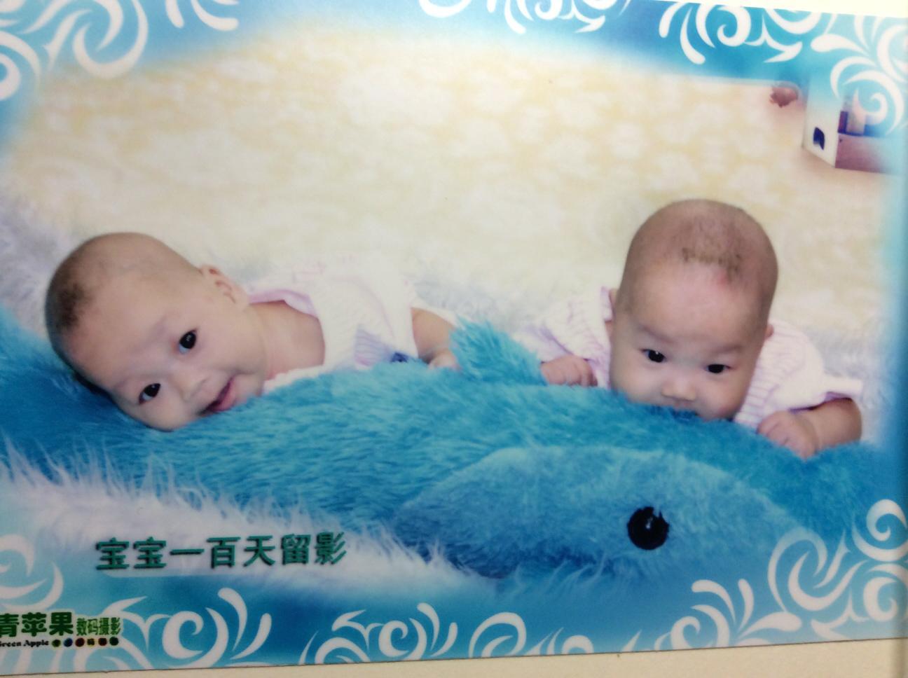 晒晒双胞胎百天照_百度宝宝知道图片