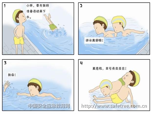 防溺水漫画_小学生防溺水漫画_儿童防溺水漫画图片_福步天下贸易平图片