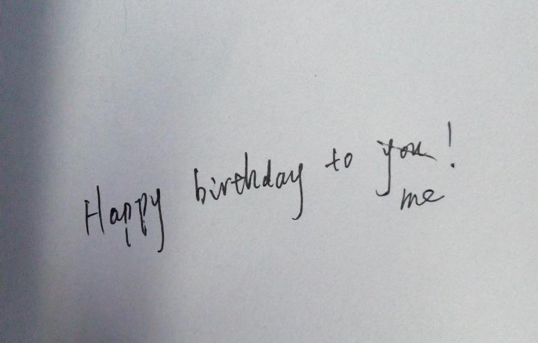 祝我生日快乐改成英语怎么写图片