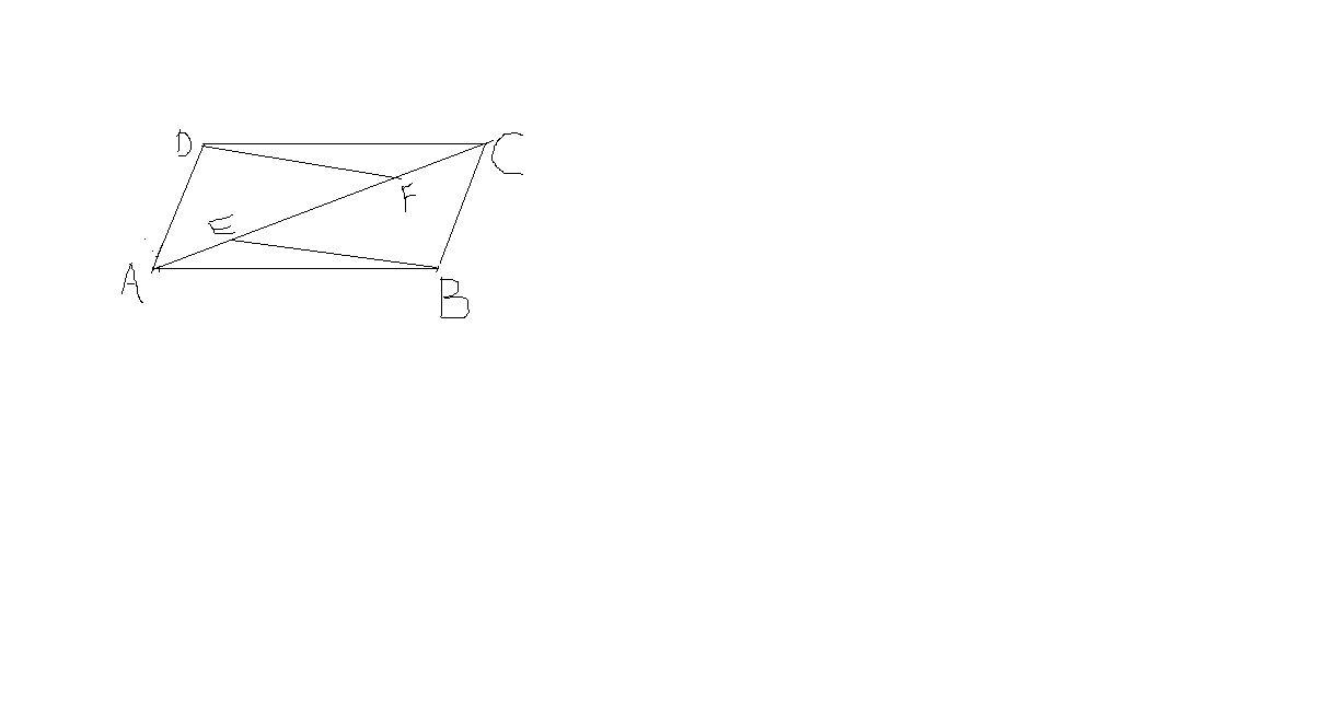 用_如图,点e,f是平行四边形abcd对角线ac上的两点,且ae=cf,用中心对称