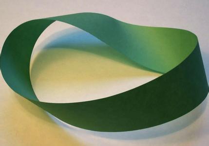 环�z(����K��K�_这就是莫比乌斯纽带(莫比乌斯环),只有一个面.