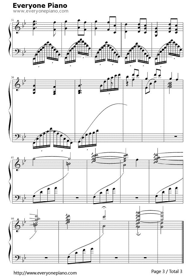 求犬夜叉主题曲穿越时空的思念这首曲子的的钢琴谱图片