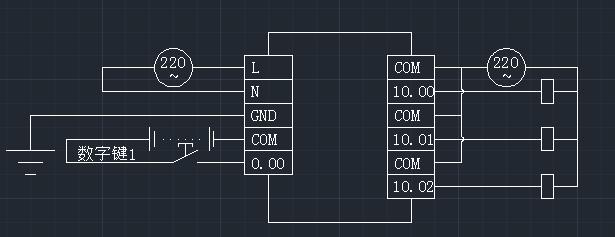 欧姆龙plc延时控制3个电磁阀图片