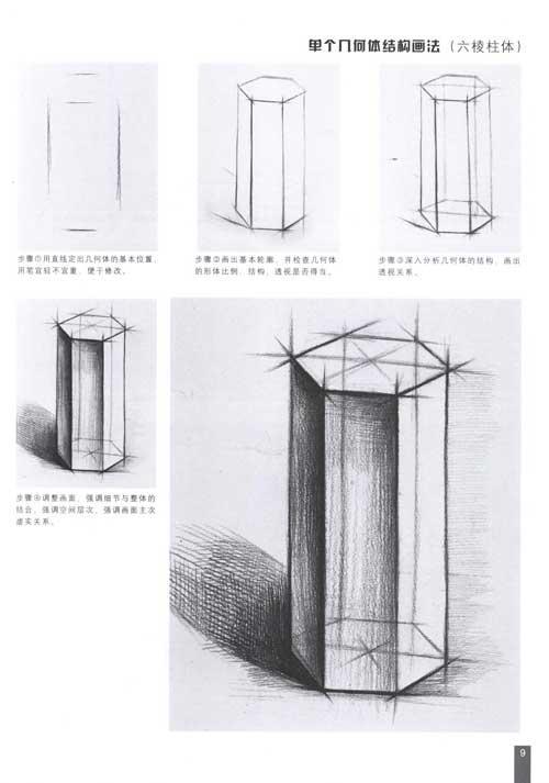 如何自学素描中的几何图形图片