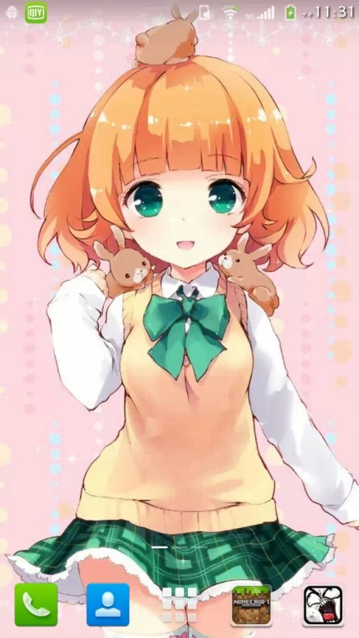 这个橙色短发绿色眼睛的动漫女孩是谁?
