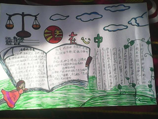 """怎么写关于""""弘扬宪法精神,建设法治中国""""的手抄报!"""