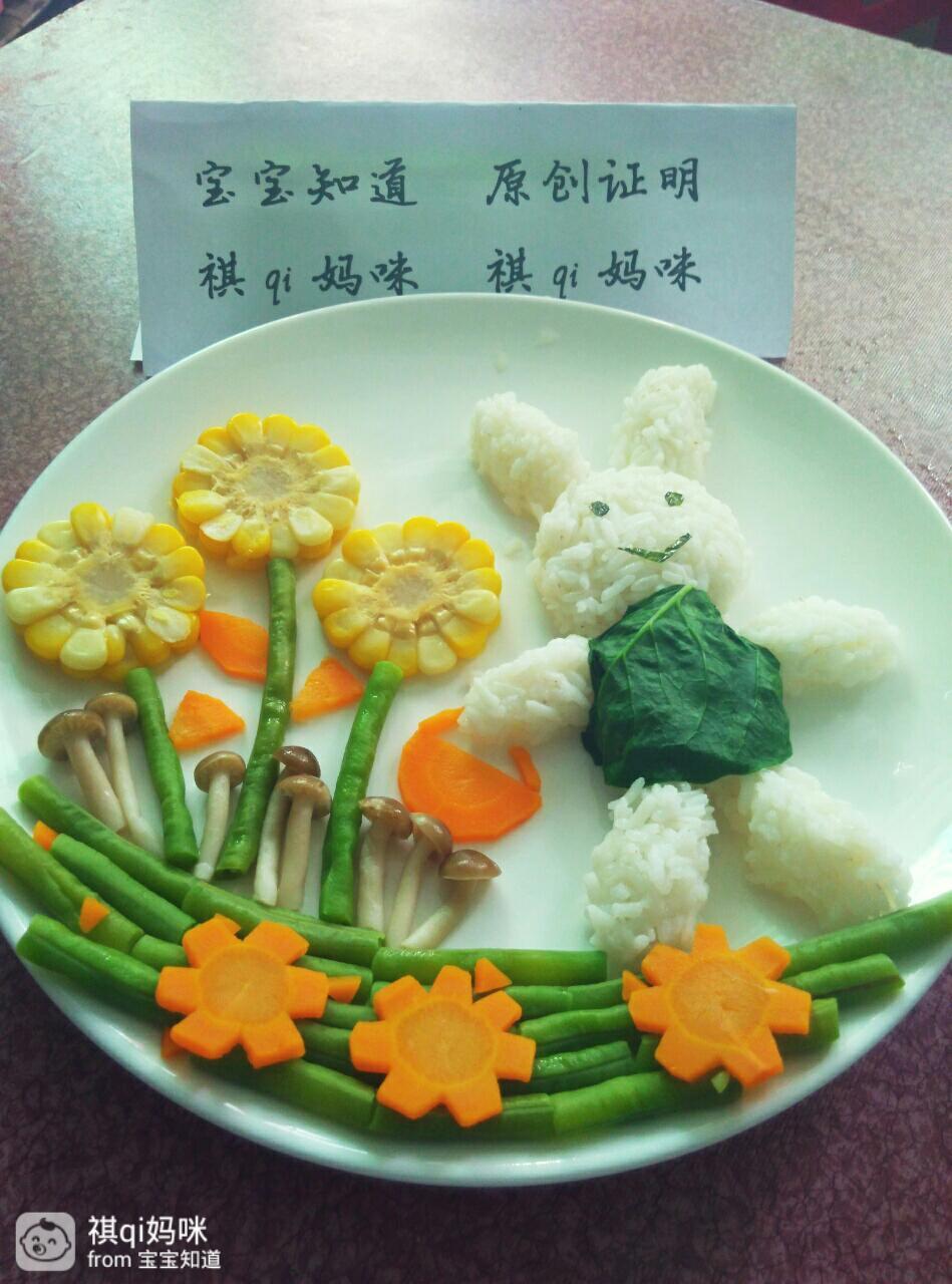 简简单单的饭菜,但稍稍摆弄下,在孩子们的眼里却是莫大的惊喜哦图片