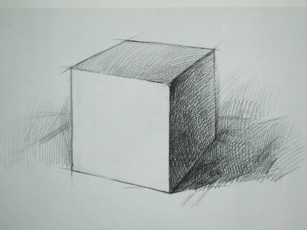 素描画的图片,要求简单点,最好是立体图形的,什么正方图片