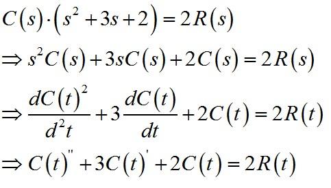 二阶微分环节传递函数
