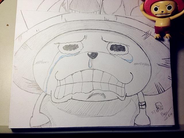 海贼王乔巴素描图片