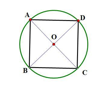 连接它不相邻的两点组成的一个菱形 在菱形内画一个正方形图片