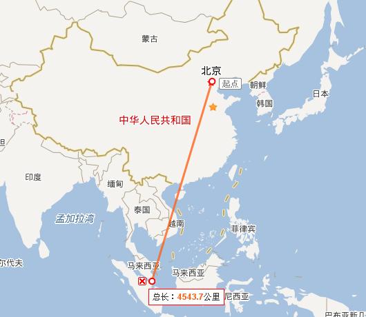 新加坡飞北京
