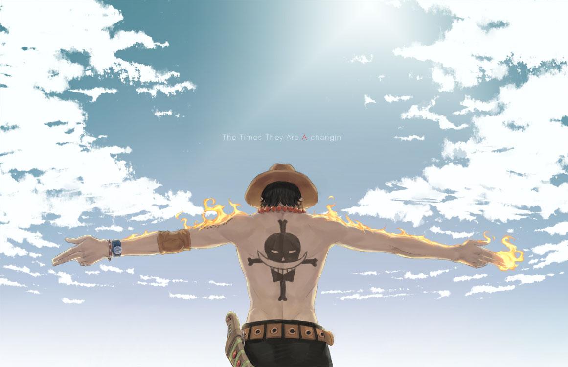 海贼王艾斯背后的纹身谁有图片