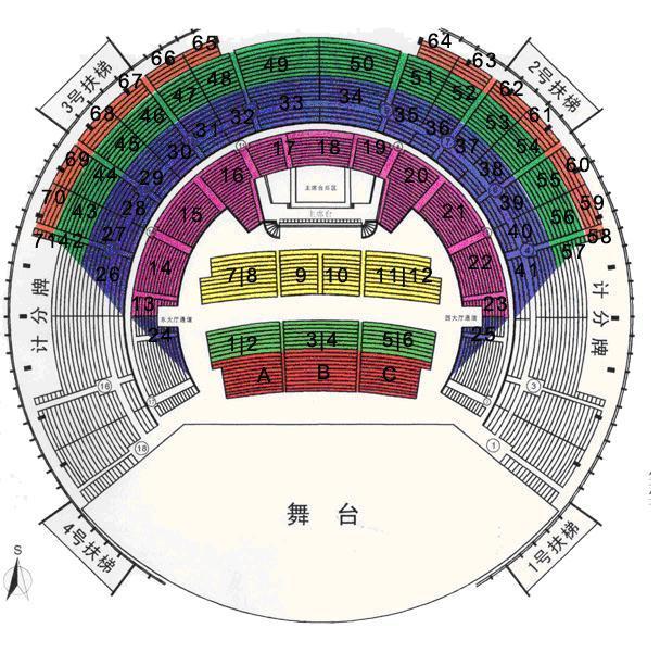上海体育馆12号城区在哪?看台v城区初中兖州图片