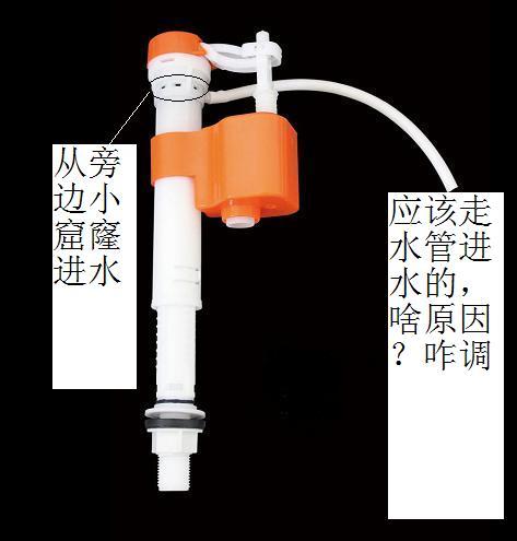 马桶伸拉进水阀不从塑料软管出水图片