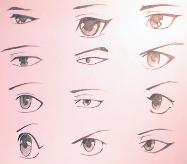 动漫人物眼睛怎么画 人的眼睛怎么画 素描怎么画眼睛