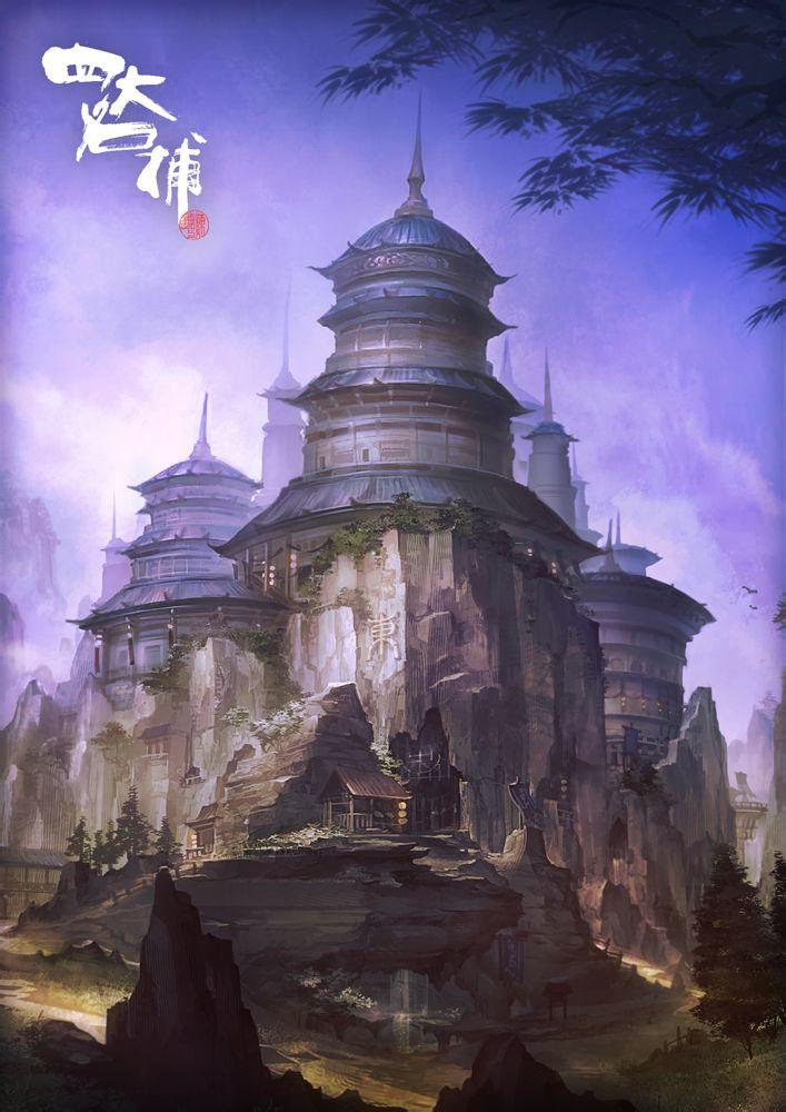 求这张图的作者,有没有类似的图的也可以,古风的建筑宫殿图片